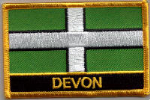 Devon Embroidered Flag Patch, style 09.